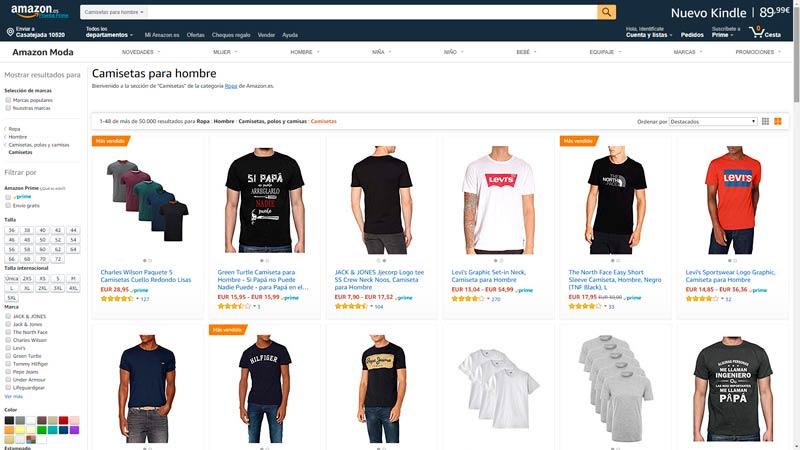 camisetas hombre amazon