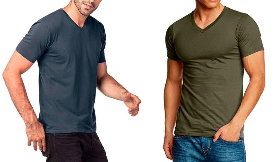 camisetas de pico hombre