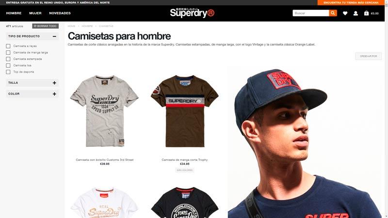 Camisetas superdry hombre