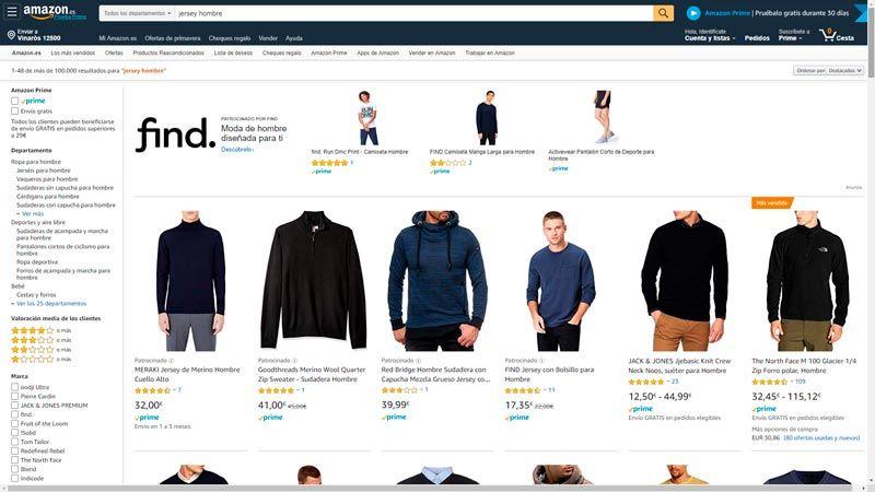 jerseys baratos amazon hombre