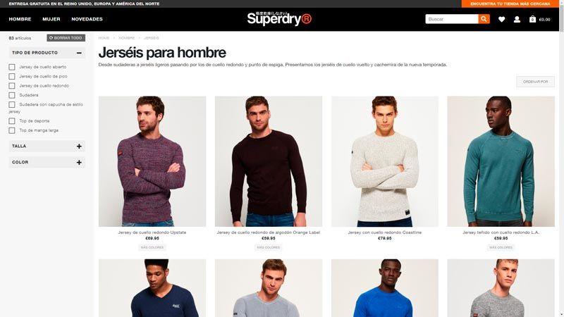 jerseys superdry hombre